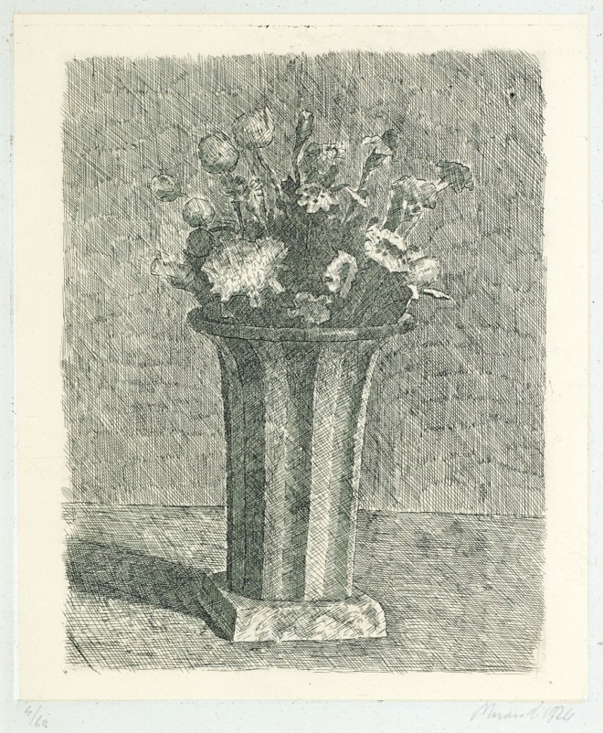 morandi vase of flowers 1924